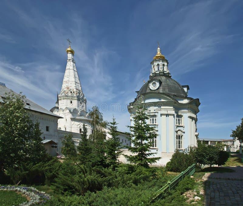Trinity Sergius Lavra in Sergiev Posad. Ppanorama. Russian Federation. UNESCO World Heritage Site stock image