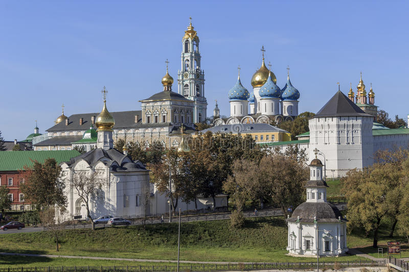 Trinity-Sergius Lavra in Sergiev Posad stock photo