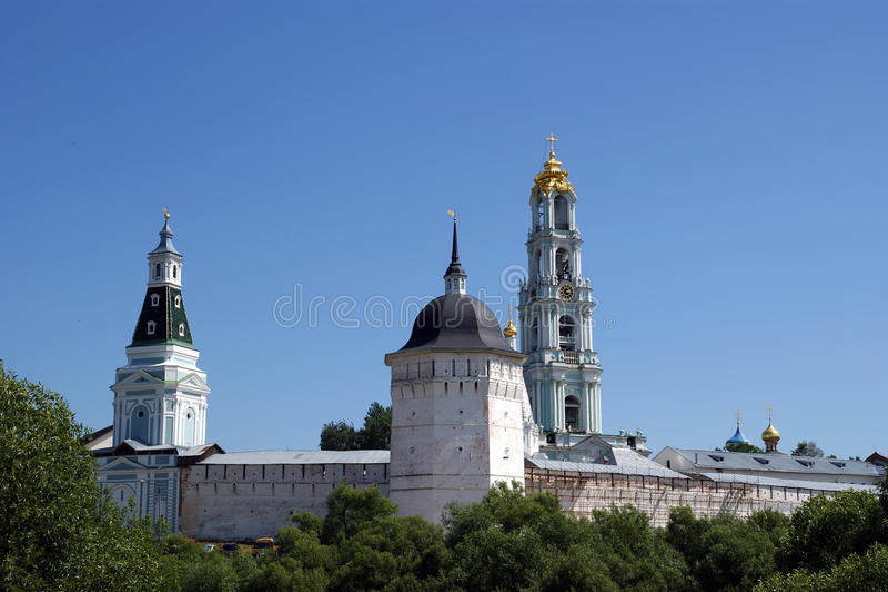 Trinity Sergius Lavra in Sergiev Posad. Russian Federation. UNESCO World Heritage Site stock photos
