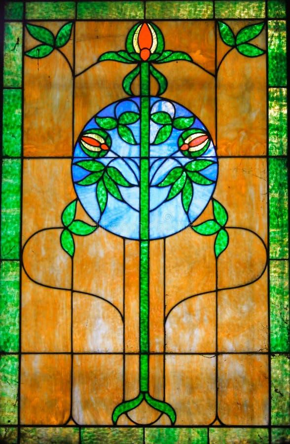 Trinity Stain Glass Window. Stain glass window of the Holy Trinity stock image