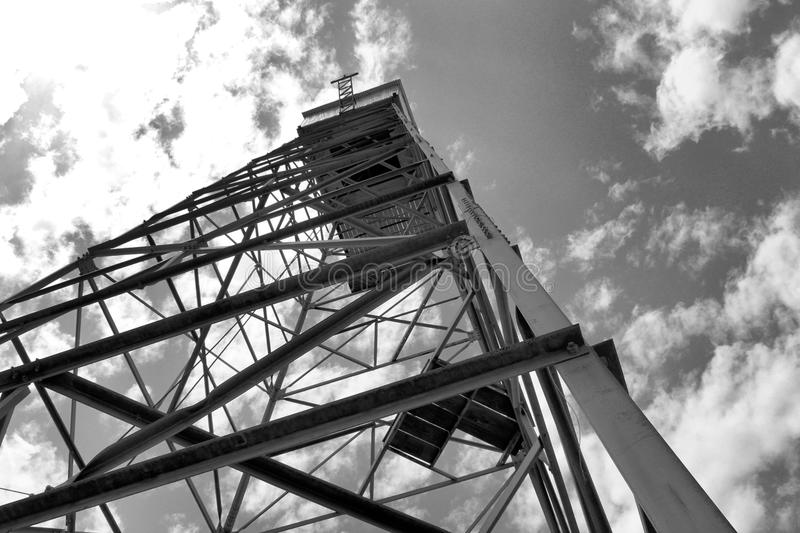 Trinity Test Site Tower. A replica tower built to resemble the one used at the Trinity Site during testing of the first atomic bomb. Displayed at the National royalty free stock photography