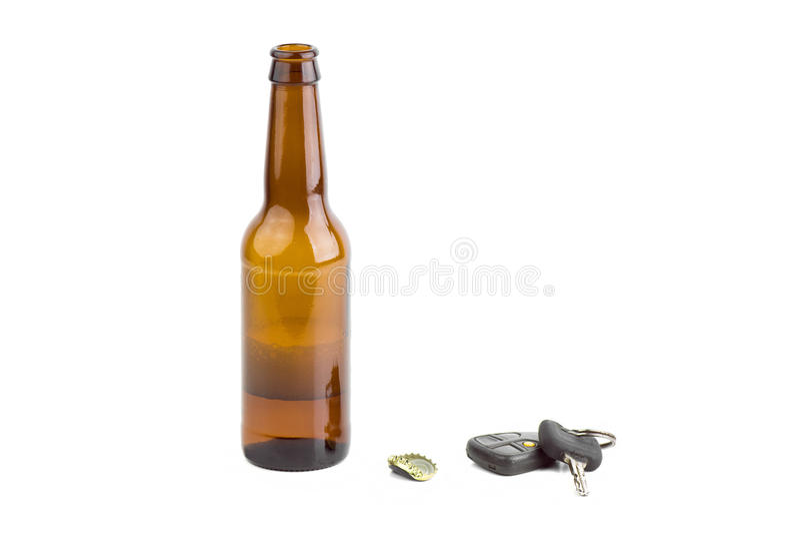 Trinken Sie nicht und Antriebskonzept lizenzfreie stockbilder