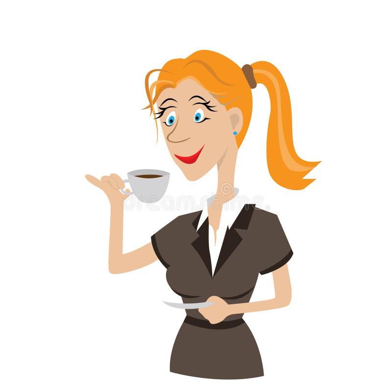 Trinkender Kaffee des Mädchens lizenzfreies stockfoto