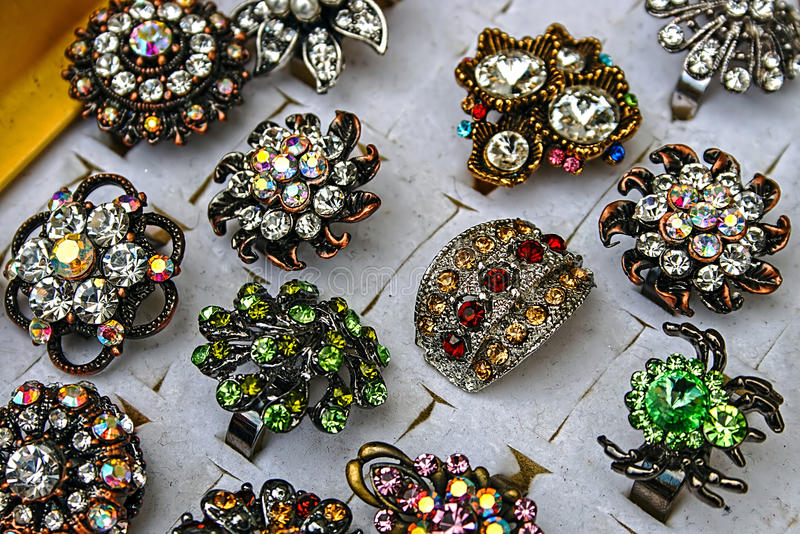 Trinkets and jewelry 8 stock image