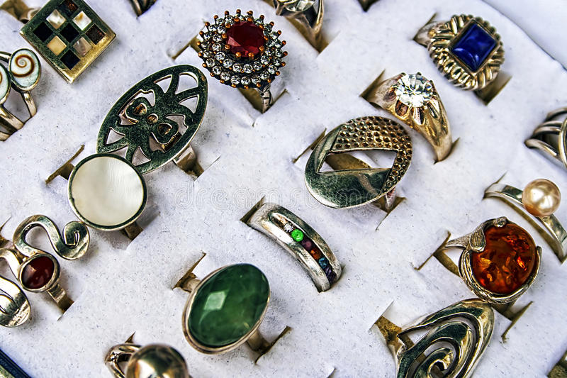 Trinkets and jewelry 10 stock photography