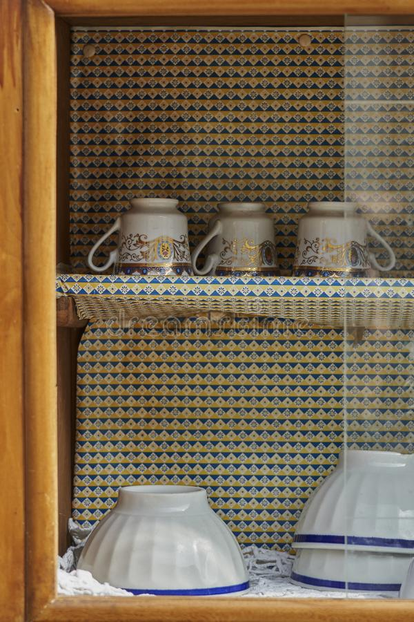 Trinkets in the old kitchen royalty free stock image