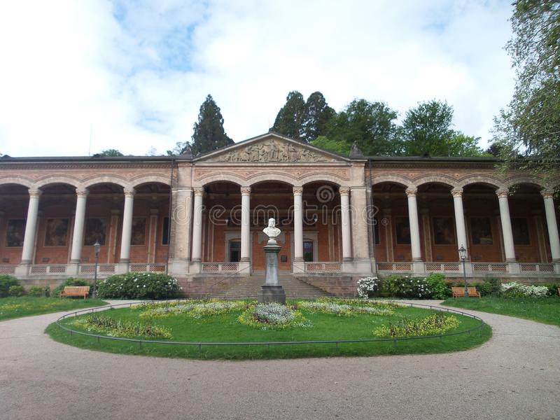 The Trinkhalle Pump House, Baden-Baden, Germany royalty free stock photo