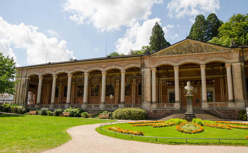Trinkhalle ,pump house in the Kurhaus royalty free stock photo