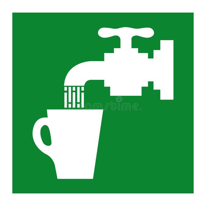 Trinkwasser-Symbol-Zeichen-Isolat auf weißem Hintergrund, Vektor-Illustration ENV 10 vektor abbildung