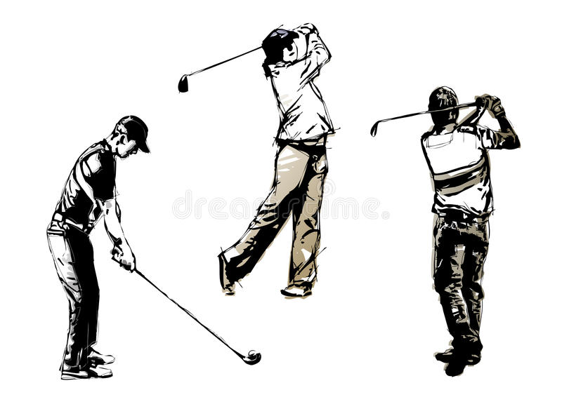 Trio 2 do golfe ilustração do vetor