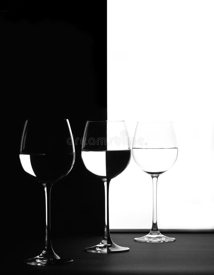 Trio in in bianco e nero fotografia stock