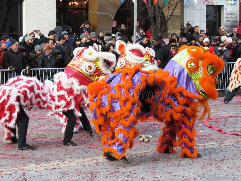 Trio chinês dos leões imagem de stock
