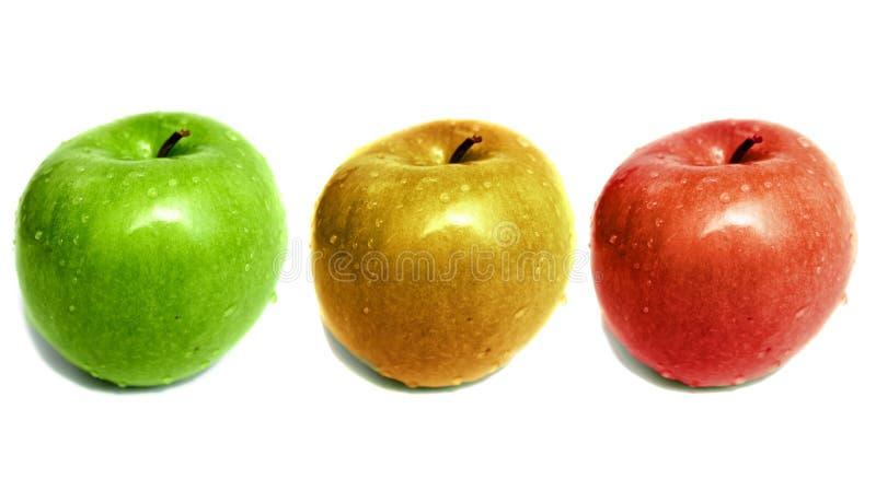 Trio de Apple imagens de stock royalty free