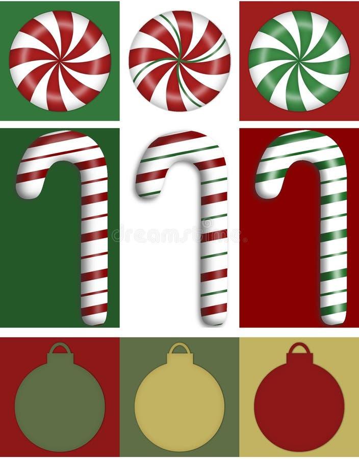 Trio de cadre de Noël illustration de vecteur