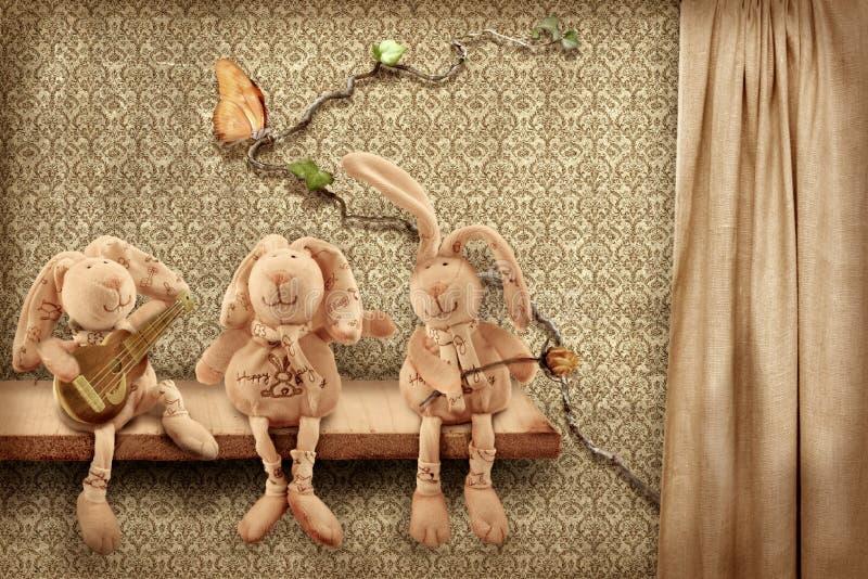 Trio de lapins photographie stock libre de droits