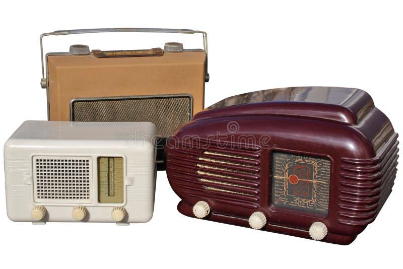 Trio de rádios retros imagem de stock