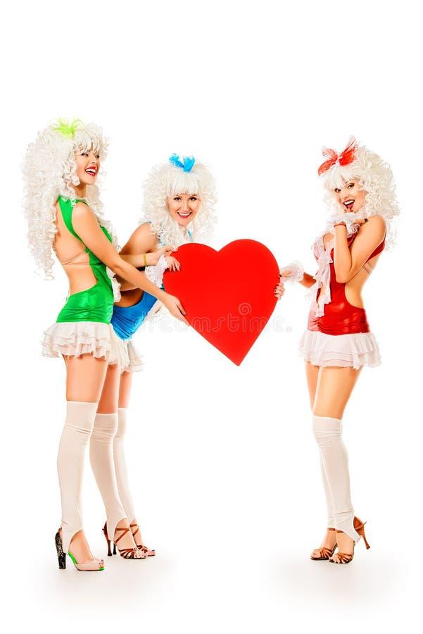 Trio dei ballerini immagini stock libere da diritti