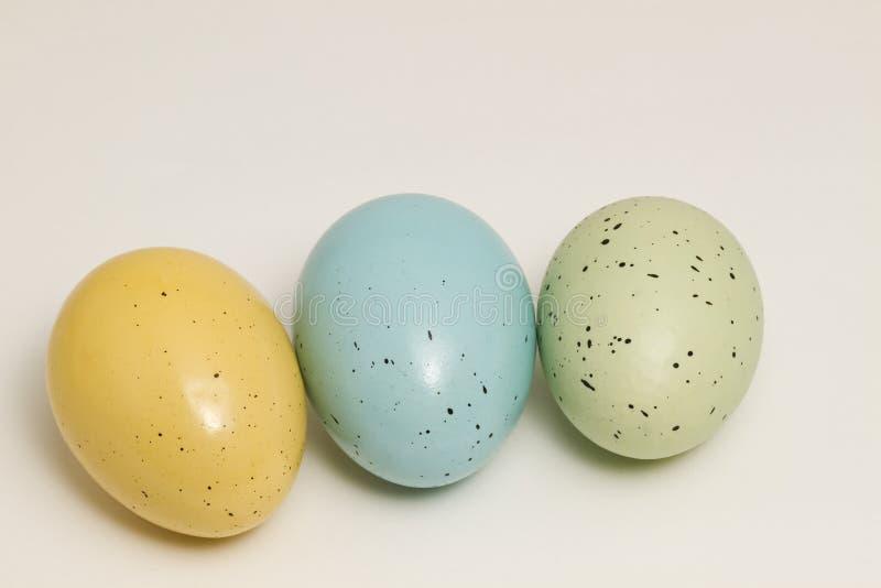Trio dell'uovo di Pasqua immagini stock libere da diritti