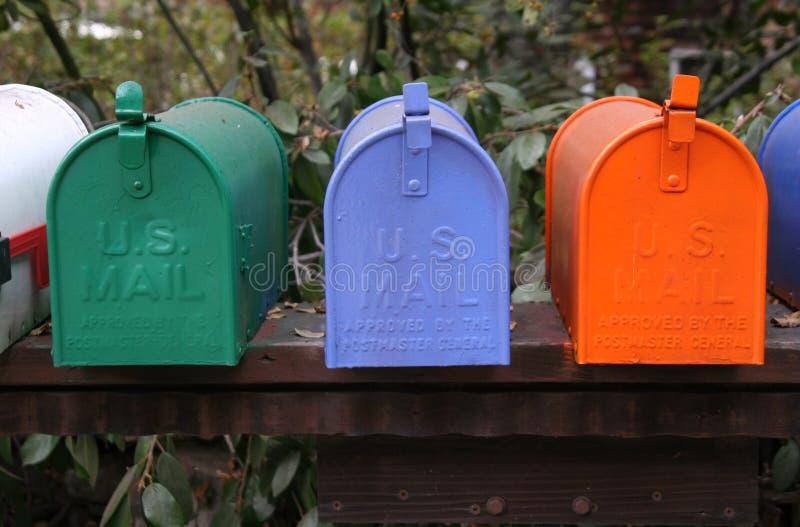 Trio della cassetta postale fotografia stock libera da diritti