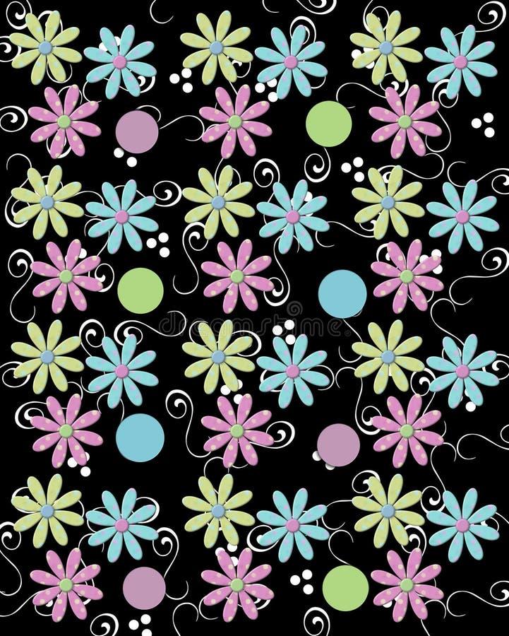 Trio der Blumenblätter mit den Rotationen gedämpft lizenzfreie abbildung
