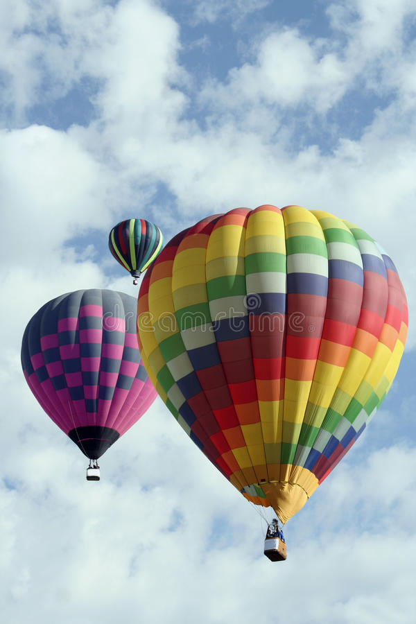 Trio der Heißluft-Ballone lizenzfreie stockbilder