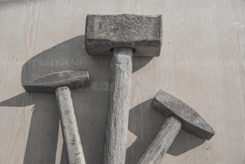 Trio des marteaux d'okd photos stock