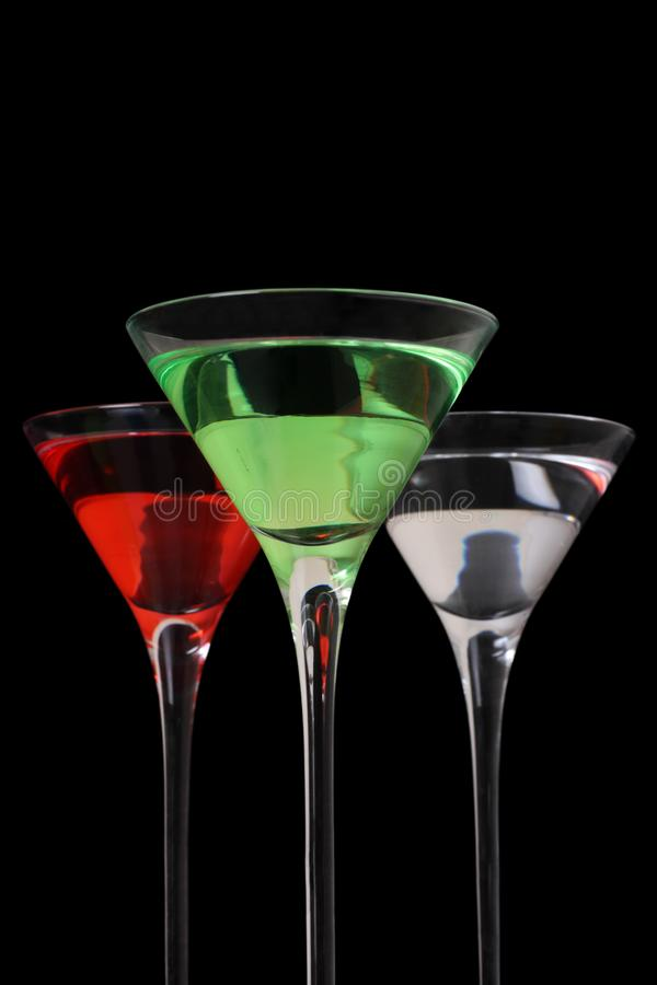 Trio do cocktail fotografia de stock
