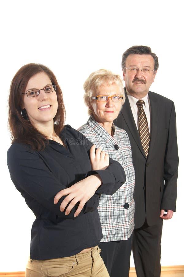 Trio do negócio imagem de stock