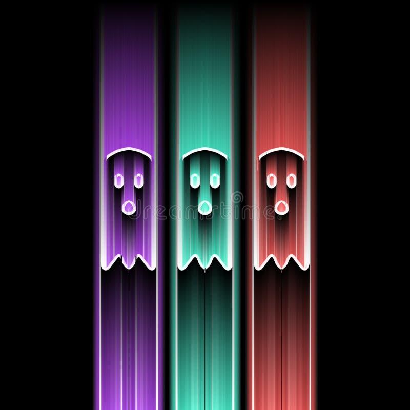 Trio dos fantasmas ilustração royalty free