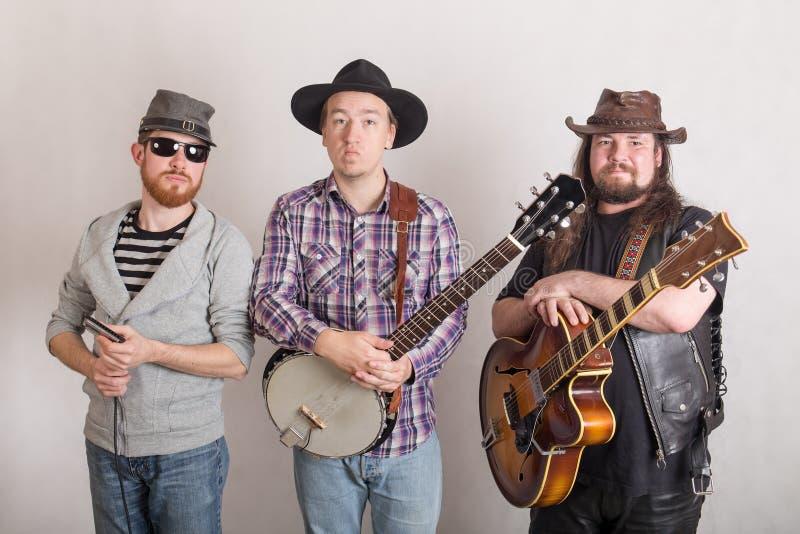 Trio dos músicos fotos de stock royalty free