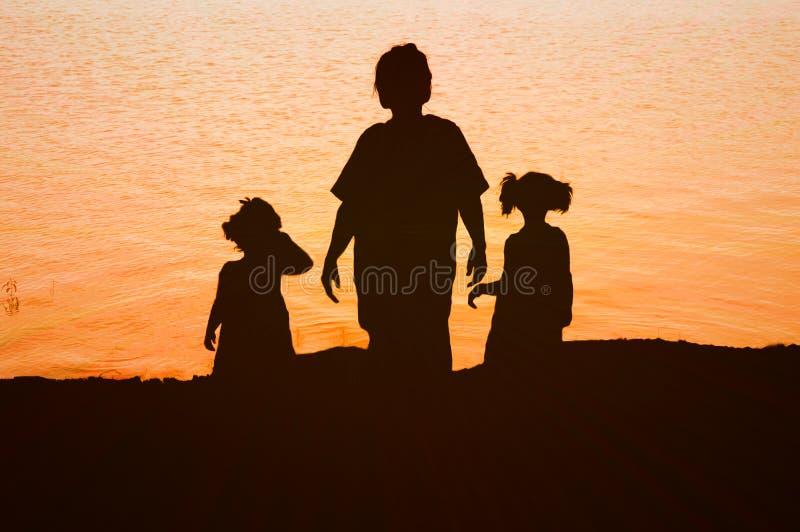 Trio im Sonnenlicht lizenzfreie stockbilder