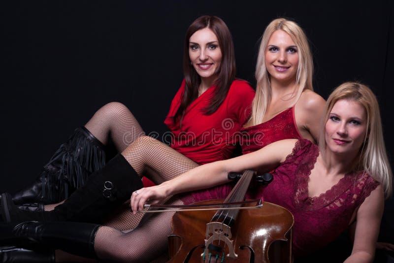 Trio musical! fotografia de stock royalty free