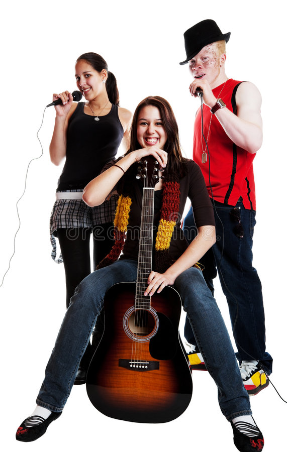 Trio musical photographie stock libre de droits