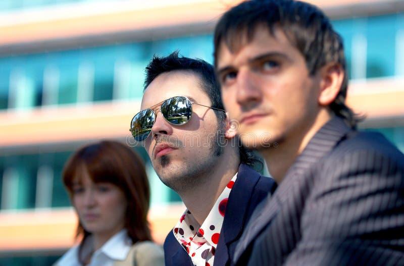 trio nieszczęśliwy interes fotografia stock