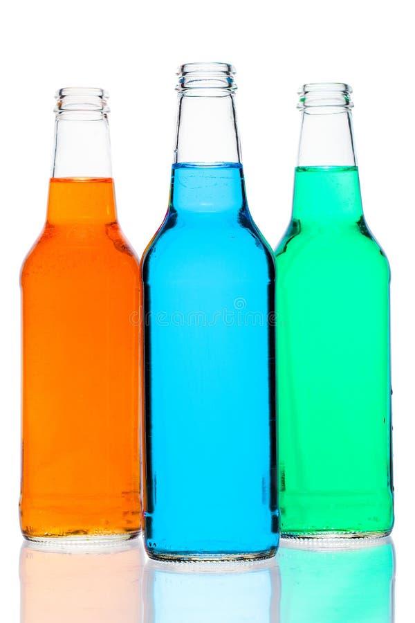 Trio pâle de bouteille images libres de droits