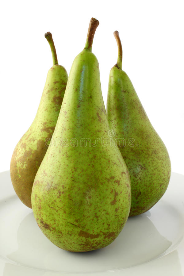 Trio Of Pears Stock Images