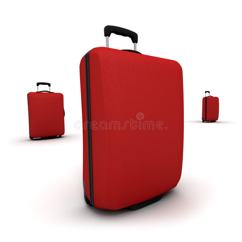 Download Trio Of Red Trolley Suitcases Royalty Free Stock Photo - Image: 5437165