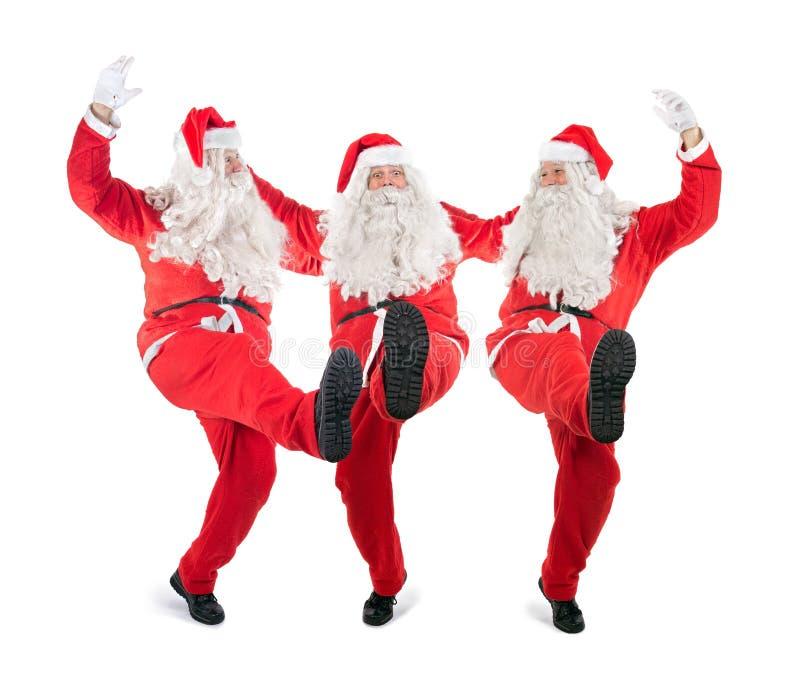 Trio Santa Claus photo libre de droits