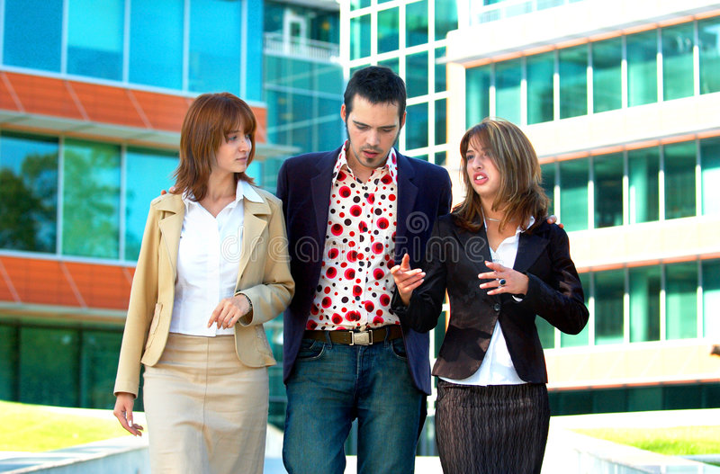 A Trio of Young People stock photography