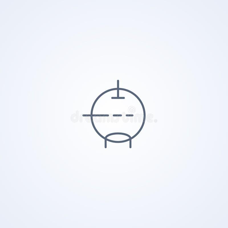 Triode, vector beste grijs lijnsymbool stock illustratie