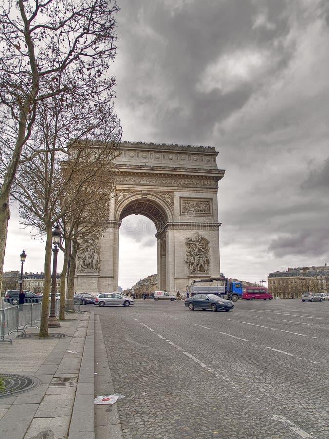 Triomfantelijke Boog, Parijs stock afbeelding
