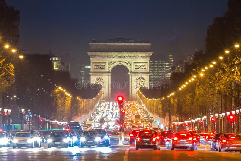 Triomphe爱丽舍巴黎法国弧  图库摄影