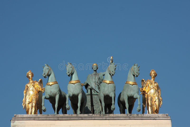 Download Triomphe дуги Carrousel De Du Стоковое Фото - изображение насчитывающей праздник, место: 6850416