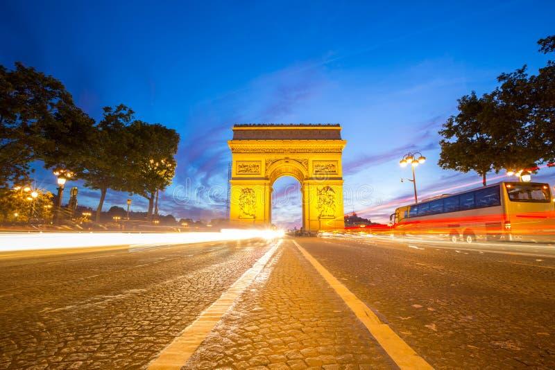 Triomphe巴黎弧  库存图片