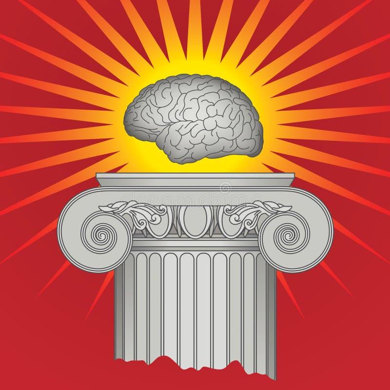 Triomphe d'intellect illustration de vecteur