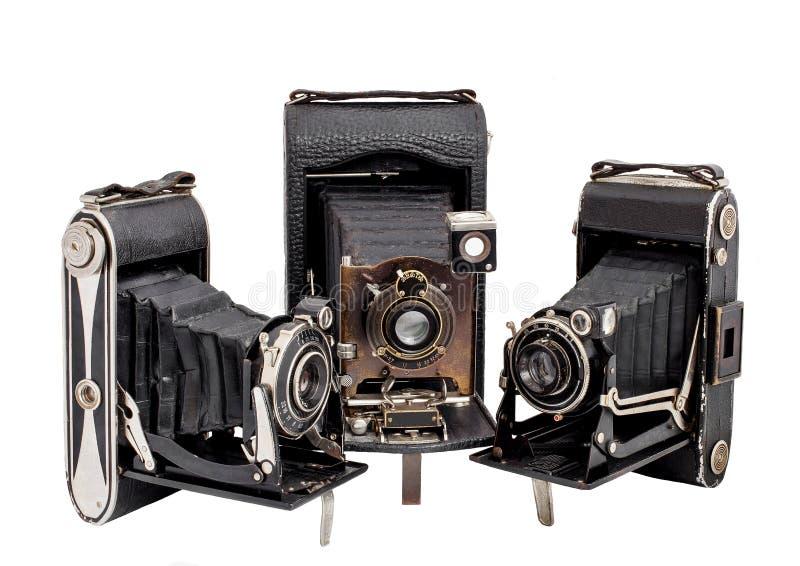Triophotocamera op middelgroot geïsoleerd formaat royalty-vrije stock afbeelding