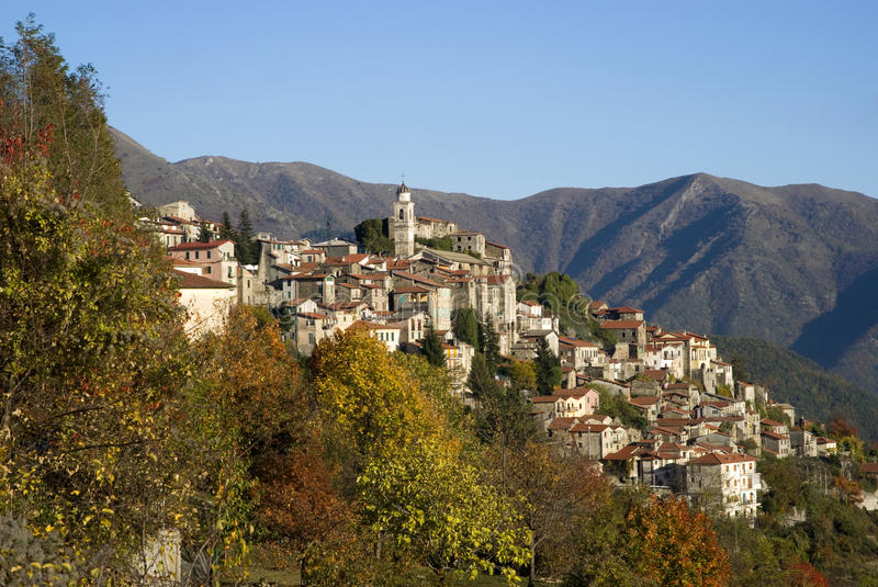 Triora. Ancient village of Italy royalty free stock photos