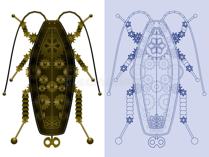 Triotto meccanico royalty illustrazione gratis