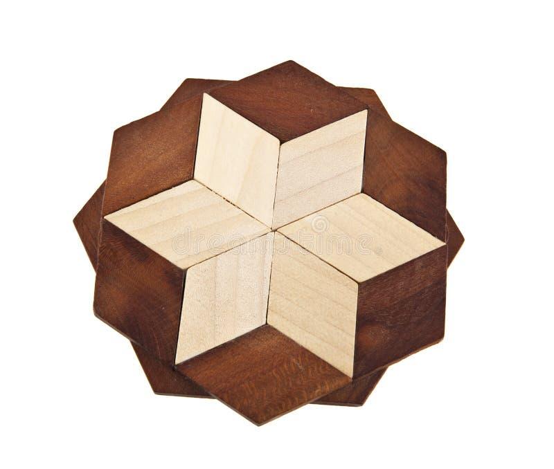 Tripé de madeira em um branco fotografia de stock