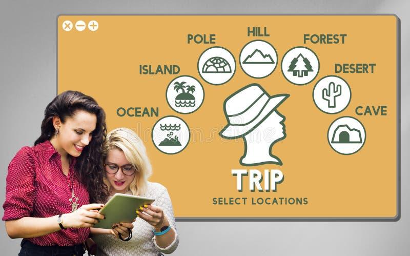 Trip Adventure Travel Journey Experience Concept. Trip Adventure Travel Journey Experience stock photos